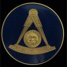 F&AM Past Master Without Square Masonic Freemason Car Bumper Sticker
