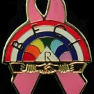 Rainbow Girls Breast Cancer Masonic Freemason Lapel Pin