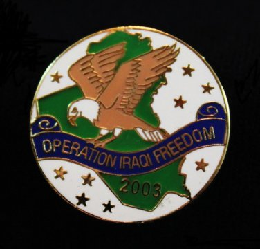 Operation Iraqi Freedom Patriotic Lapel Pin