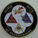 York Rite Of Freemasonry Masonic Car Bumper Sticker