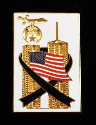 Shriners Masonic 9-11 U.S. American Flag Lapel Pin