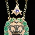 Amaranth Past Royal Patron 1 Stone & Square & Compass Masonic Jewel