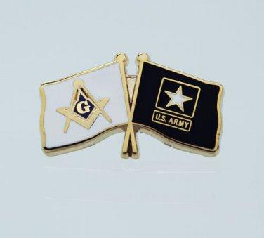 Masonic USA United States U.S. Army Flag Freemason Lapel Pin
