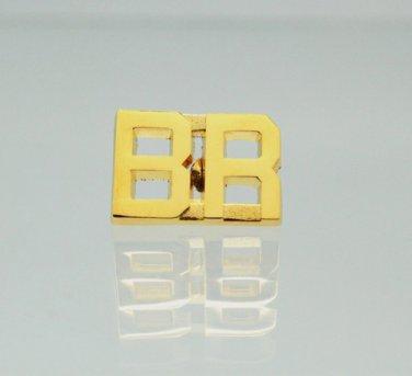 BR Brasil Brazil Gold Uniform Lapel Pin Bar