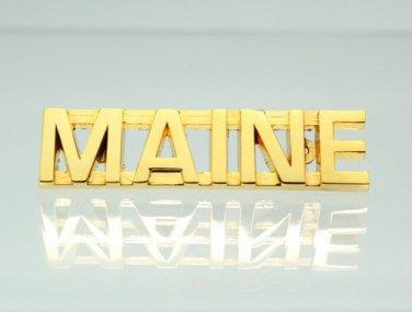 Maine Gold Uniform Lapel Pin Bar