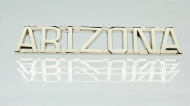 Arizona Silver Uniform Lapel Pin Bar