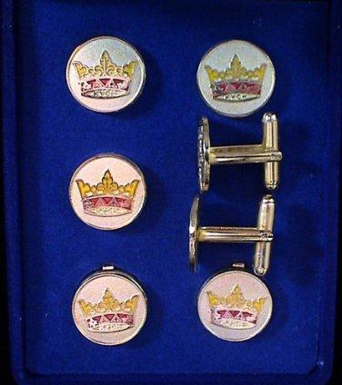 York Rite KYCH Masonic Tux Suit Button Cover Set
