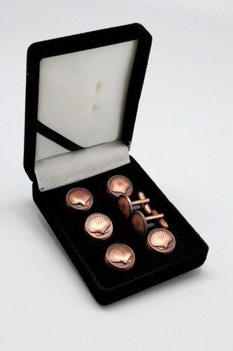 St. Thomas of Acon Masonic Freemason Copper Tux Suit Button Cover Set
