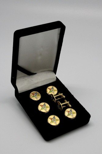 Order Of The Eastern Star OES Button Cover Tux Set