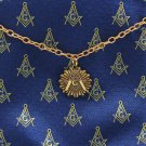 Blue Lodge Freemason Masonic Square & Compasses Masonic Tie Chain