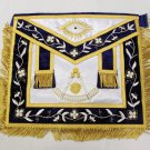 Stock Past Master Freemason Masonic Silk Apron Gold