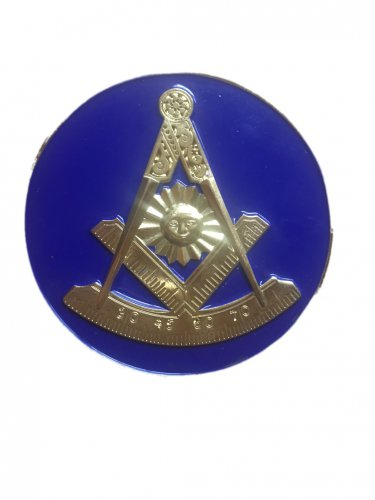 AF&AM Past Master Masonic Freemason Bumper Sticker With Square