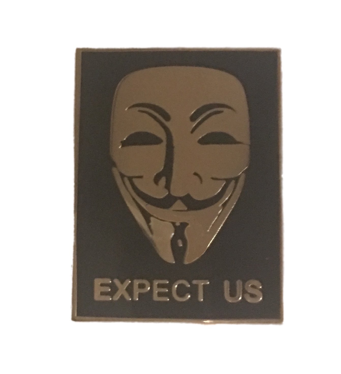 Anonymous Hacker Mask Lapel Pin