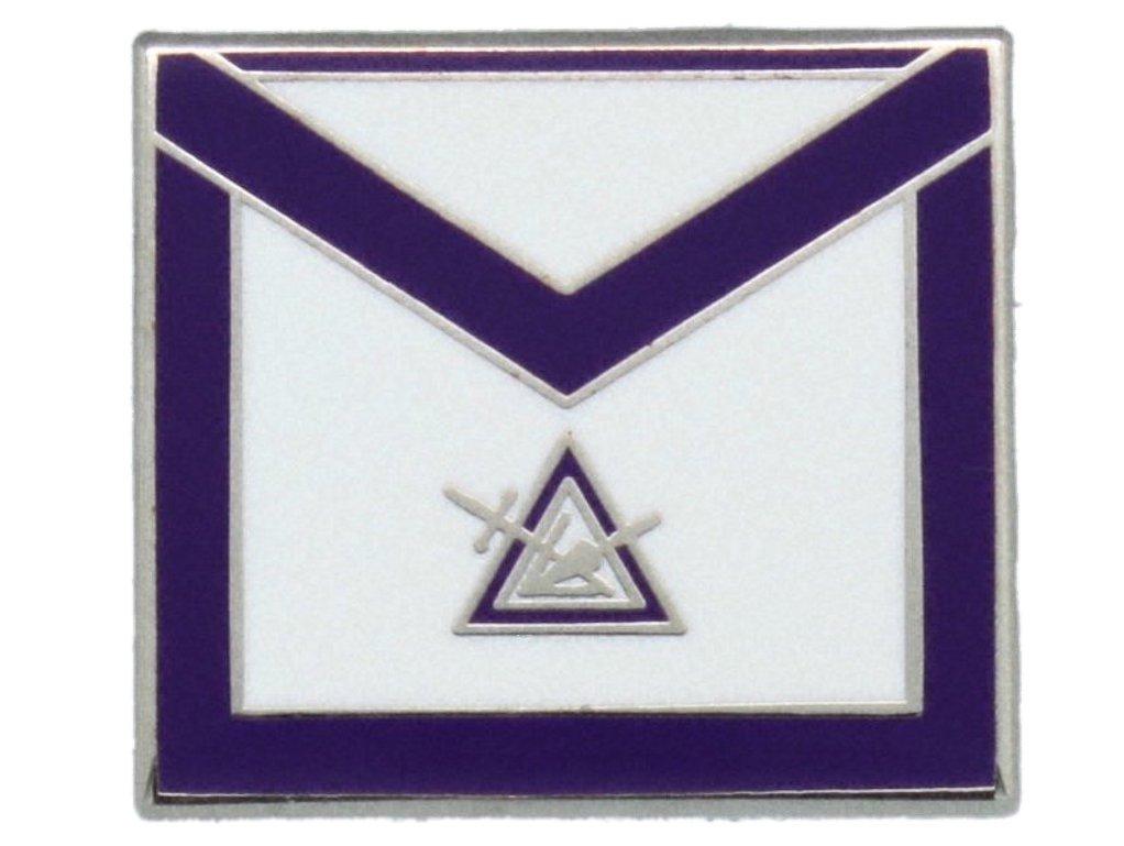 York Rite Cryptic Council Apron Freemason Masonic Lapel Pin