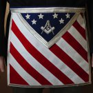 Blue Lodge Patriotic Masonic Square & Compasses Apron