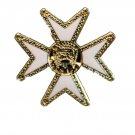 York RiteMaltese Malta CrossMasonic Freemason Lapel Pin
