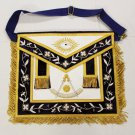 Past Master Freemason Masonic Leather Gold Apron