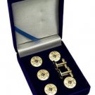 Square & Compasses Blue Lodge Masonic Button Cover Set