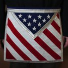 Blue Lodge Patriotic Masonic Freemason U.S. Flag Apron