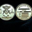 Blue Lodge Freemason Masonic Gold Coin