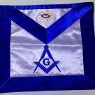 Blue Lodge Master Mason Masonic Square & Compasses All Seeing Eye CUSTOM Apron