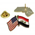 United States Iraq Iraqi Friendship Flag Lapel Pin
