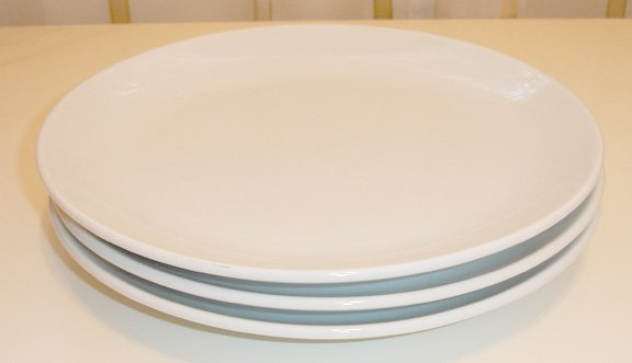 white stoneware dinner plates- set of 6