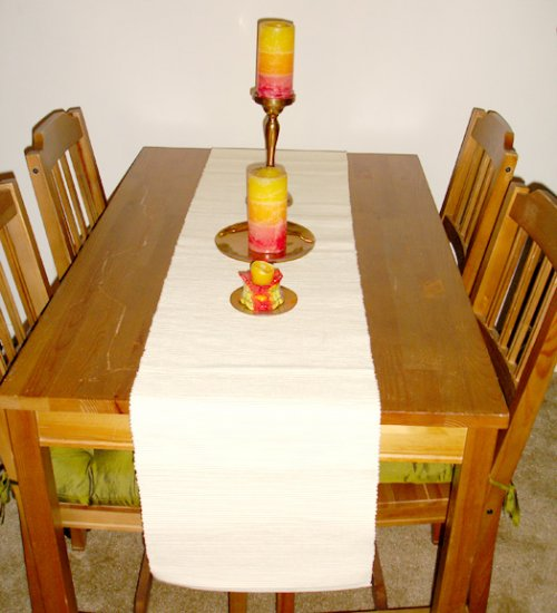 table runner- off white