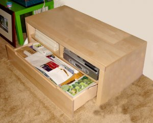ikea wooden tv stand with drawer
