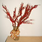 vase and dry arrangement