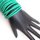 Leather Wrap Bracelet-Green
