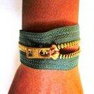 Unzip Me Bracelet-Olive Green