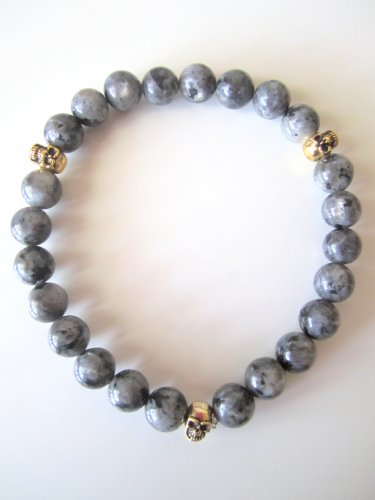 Men's Triple Threat Gemstone Bracelet- Labradorite