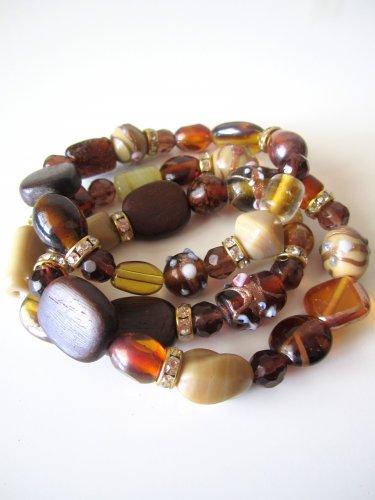 *SALE* Candy Bead Mix Bracelet-Brown