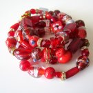 *SALE* Candy Bead Mix Bracelet-Red