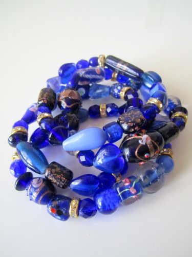 *SALE* Candy Bead Mix Bracelet-Blue
