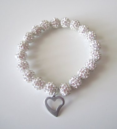 Pave Crystal Ball Bling Bracelet