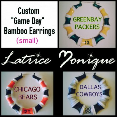 """Small """"Game Day"""" Sport Team Bamboo Earrings"""