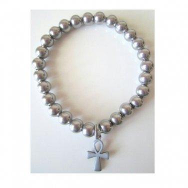 Men's Stainless Steel Ankh Bracelet