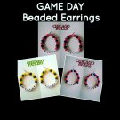 """Game Day"" Beaded Sport Team Earrings"