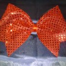 Shimmering Sequins Red Cheer Bow