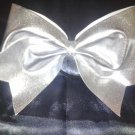 Silver Shimmering Solid Cheer Bow