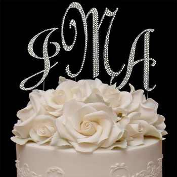 Swarovski Covered Cake Jewelry Letters | Monogram Set