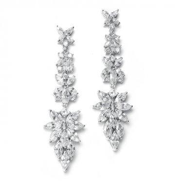 Marquis Cluster Drop Earrings