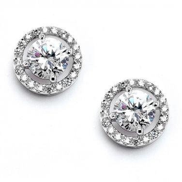 Bold CZ Circle Earrings