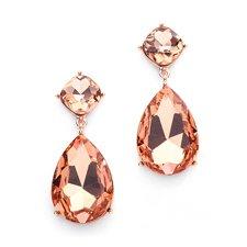 Champagne Chunky Crystal Earrings