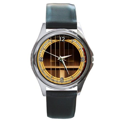 Soundhole Tippin OMT Round Guitar Style Round Metal Watch