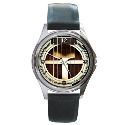 Soundhole M.J. Franks OM-D Guitar Style Round Metal Watch