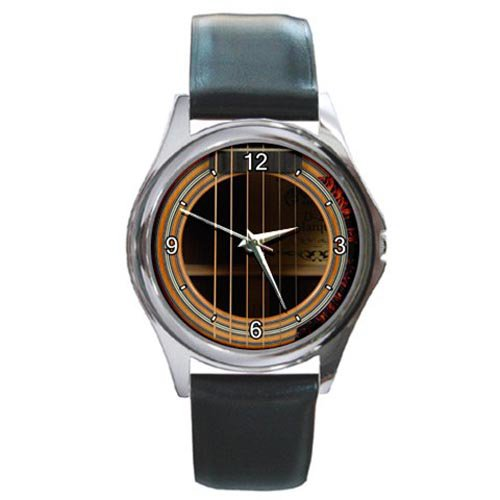 Soundhole Martin D-28 Marquis Guitar Style Round Metal Watch