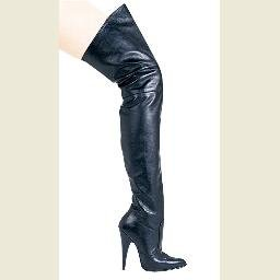 Blaze4 - Leather Thigh High Boot - Size 6 (US)